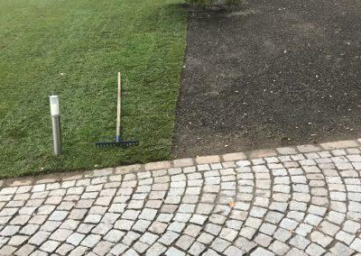 Rollrasen Pflastersteine
